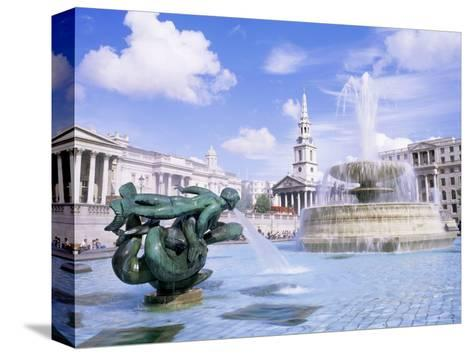 Trafalgar Square, London, England, United Kingdom-Roy Rainford-Stretched Canvas Print