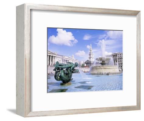Trafalgar Square, London, England, United Kingdom-Roy Rainford-Framed Art Print
