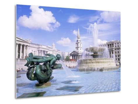 Trafalgar Square, London, England, United Kingdom-Roy Rainford-Metal Print