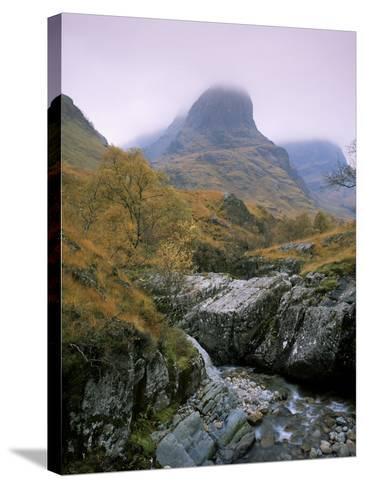 The Three Sisters, Glencoe, Highland Region, Scotland, United Kingdom-Roy Rainford-Stretched Canvas Print