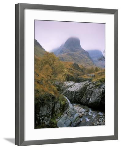 The Three Sisters, Glencoe, Highland Region, Scotland, United Kingdom-Roy Rainford-Framed Art Print