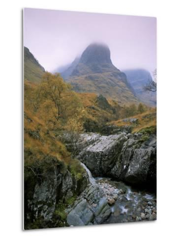 The Three Sisters, Glencoe, Highland Region, Scotland, United Kingdom-Roy Rainford-Metal Print