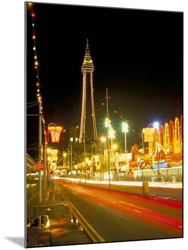Blackpool Tower and Illuminations, Blackpool, Lancashire, England, United Kingdom-Roy Rainford-Mounted Photographic Print