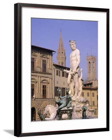 Statue of Neptune, Florence, Tuscany, Italy-Roy Rainford-Framed Art Print