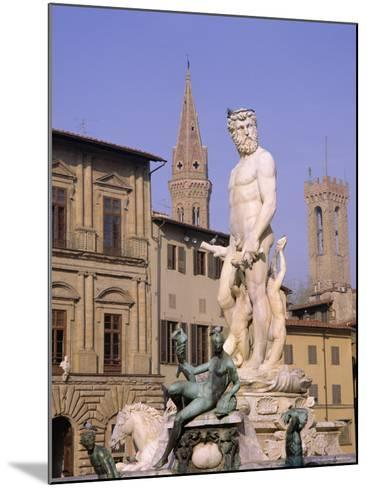 Statue of Neptune, Florence, Tuscany, Italy-Roy Rainford-Mounted Photographic Print