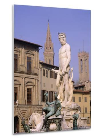 Statue of Neptune, Florence, Tuscany, Italy-Roy Rainford-Metal Print