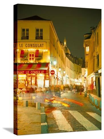 Montmartre Area at Night, Paris, France-Roy Rainford-Stretched Canvas Print