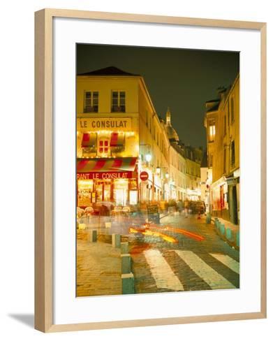 Montmartre Area at Night, Paris, France-Roy Rainford-Framed Art Print