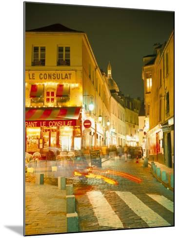 Montmartre Area at Night, Paris, France-Roy Rainford-Mounted Photographic Print