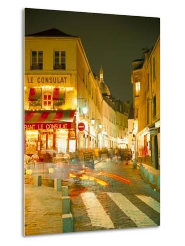 Montmartre Area at Night, Paris, France-Roy Rainford-Metal Print