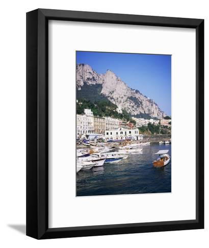 Marina Grande, Island of Capri, Campania, Italy, Mediterranean-Roy Rainford-Framed Art Print