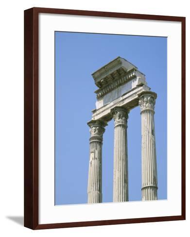 The Forum, Rome, Lazio, Italy-Roy Rainford-Framed Art Print