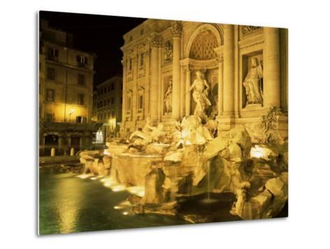 Trevi Fountain, Rome, Lazio, Italy-Roy Rainford-Metal Print