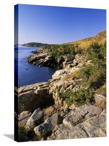 Coastline, Acadia National Park, Maine, New England, USA-Roy Rainford-Stretched Canvas Print