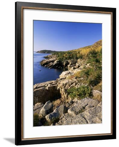 Coastline, Acadia National Park, Maine, New England, USA-Roy Rainford-Framed Art Print