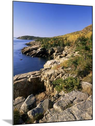 Coastline, Acadia National Park, Maine, New England, USA-Roy Rainford-Mounted Photographic Print