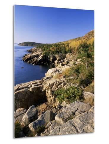 Coastline, Acadia National Park, Maine, New England, USA-Roy Rainford-Metal Print
