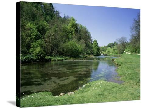Lathkill Dale, Near Bakewell, Peak District National Park, Derbyshire, England-Roy Rainford-Stretched Canvas Print