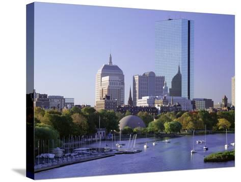 City Skyline in Early Morning, Boston, Massachusetts, New England, USA-Roy Rainford-Stretched Canvas Print