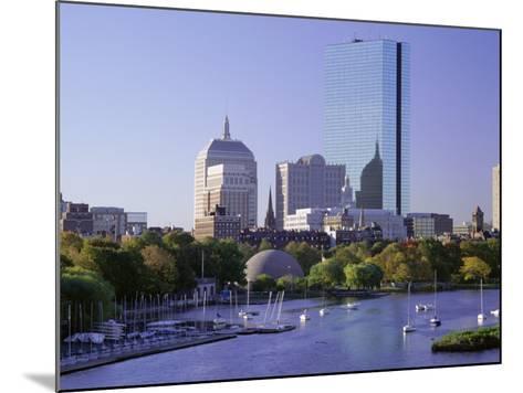 City Skyline in Early Morning, Boston, Massachusetts, New England, USA-Roy Rainford-Mounted Photographic Print