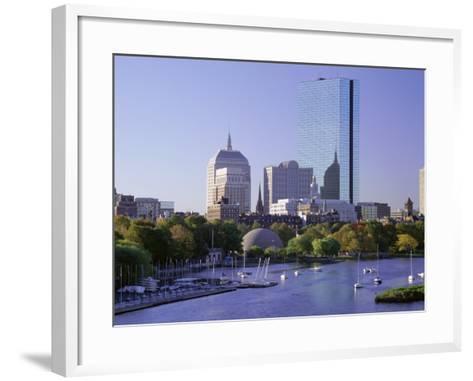 City Skyline in Early Morning, Boston, Massachusetts, New England, USA-Roy Rainford-Framed Art Print