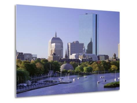 City Skyline in Early Morning, Boston, Massachusetts, New England, USA-Roy Rainford-Metal Print