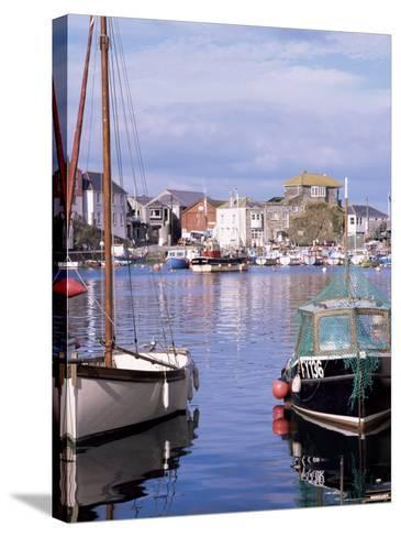The Harbour, Mevagissey, Cornwall, England, United Kingdom-Roy Rainford-Stretched Canvas Print