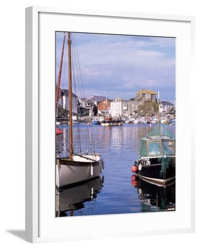 The Harbour, Mevagissey, Cornwall, England, United Kingdom-Roy Rainford-Framed Art Print