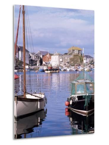 The Harbour, Mevagissey, Cornwall, England, United Kingdom-Roy Rainford-Metal Print