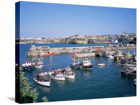 Harbour, Newquay, Cornwall, England, United Kingdom-Roy Rainford-Stretched Canvas Print