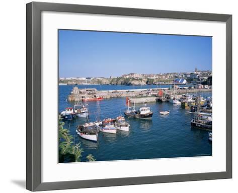 Harbour, Newquay, Cornwall, England, United Kingdom-Roy Rainford-Framed Art Print