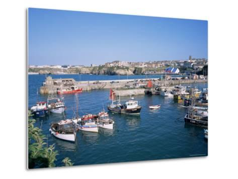 Harbour, Newquay, Cornwall, England, United Kingdom-Roy Rainford-Metal Print