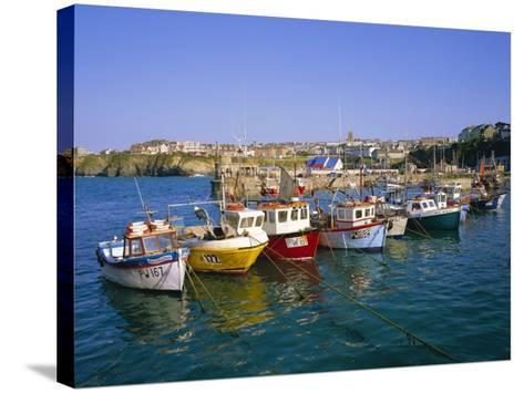 Small Boats in the Harbour, Newquay, Cornwall, England, UK-Roy Rainford-Stretched Canvas Print