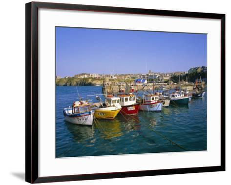 Small Boats in the Harbour, Newquay, Cornwall, England, UK-Roy Rainford-Framed Art Print