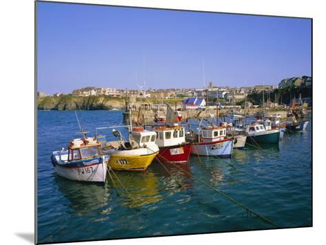 Small Boats in the Harbour, Newquay, Cornwall, England, UK-Roy Rainford-Mounted Photographic Print