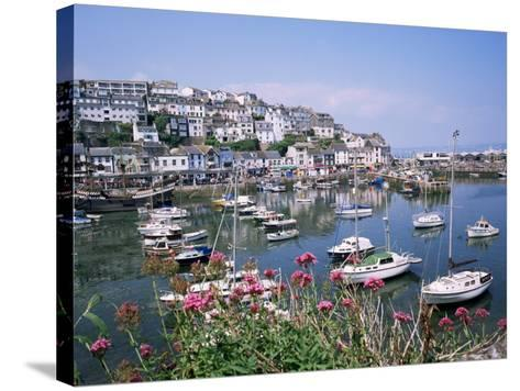 Brixham Harbour, Devon, England, United Kingdom-Roy Rainford-Stretched Canvas Print