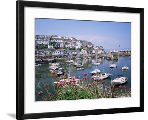 Brixham Harbour, Devon, England, United Kingdom-Roy Rainford-Framed Art Print