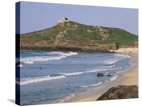 Porthmeor Beach, St. Ives, Cornwall, England, United Kingdom-Roy Rainford-Stretched Canvas Print