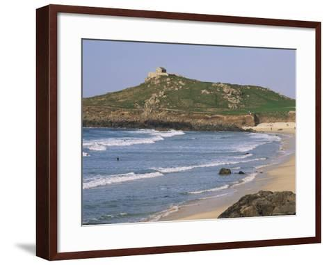 Porthmeor Beach, St. Ives, Cornwall, England, United Kingdom-Roy Rainford-Framed Art Print
