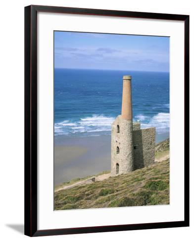 Wheal Coates Mine, St. Agnes, Cornwall, England, United Kingdom-Roy Rainford-Framed Art Print