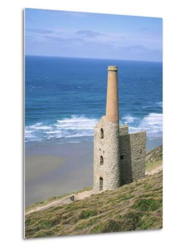 Wheal Coates Mine, St. Agnes, Cornwall, England, United Kingdom-Roy Rainford-Metal Print