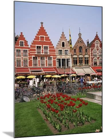 Gabled Buildings and Restaurants, Bruges, Belgium-Roy Rainford-Mounted Photographic Print