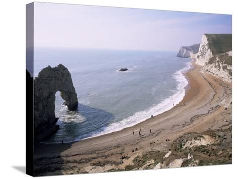 Durdle Door and Bats Head, Dorset, England, United Kingdom-Roy Rainford-Stretched Canvas Print