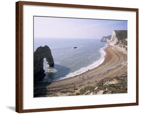 Durdle Door and Bats Head, Dorset, England, United Kingdom-Roy Rainford-Framed Art Print