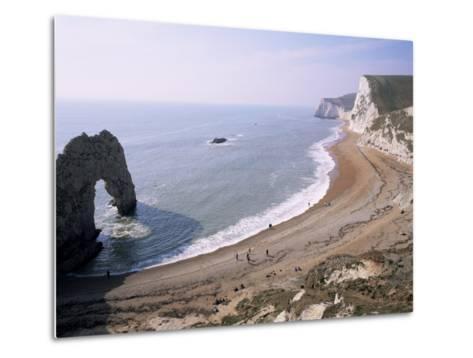 Durdle Door and Bats Head, Dorset, England, United Kingdom-Roy Rainford-Metal Print