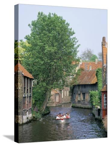 Boat Trips Along the Canals, Brugge (Bruges), Belgium-Roy Rainford-Stretched Canvas Print