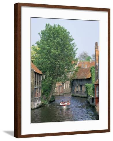 Boat Trips Along the Canals, Brugge (Bruges), Belgium-Roy Rainford-Framed Art Print