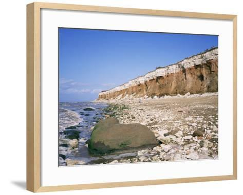 Start or End of the Wash, Hunstanton Cliffs, Norfolk, England, United Kingdom-Roy Rainford-Framed Art Print