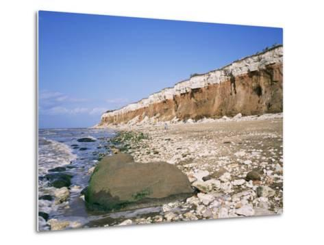 Start or End of the Wash, Hunstanton Cliffs, Norfolk, England, United Kingdom-Roy Rainford-Metal Print