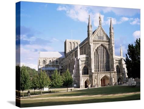 Winchester Cathedral, Winchester, Hampshire, England, United Kingdom-Roy Rainford-Stretched Canvas Print